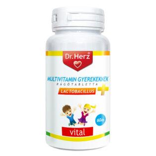 Dr. Herz Gyerek multivitamin + D-vitamin rágótabletta - 60db