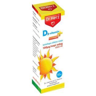 Dr. Herz D3-vitamin csepp 2000NE - 2csepp - 50ml