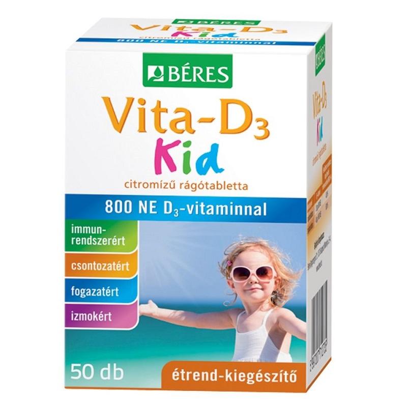 Béres Vita-D3 Kid 800NE rágótabletta - 50 db