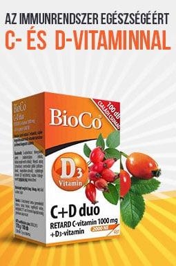 BioCo C+D Duo az immunrendszerünk normál működéséért