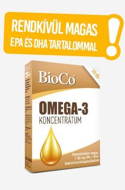 BioCo Omega-3 koncentrátum rendkívül magas EPA és DHA tartalommal