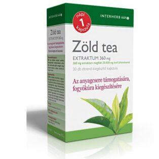 Interherb zöld tea kapszula - 30db
