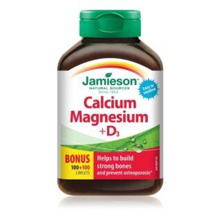 Jamieson Kálcium Magnézium + D3-vitamin tabletta - 120db