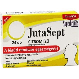 Jutavit Jutasept citrom ízű szopogató tabletta - 24db