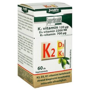 Jutavit K2+D3+K1-vitamin lágykapszula - 60db