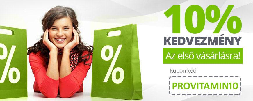 -10% kedvezmény az első vásárlásra!