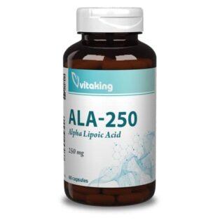Vitaking Alfa-Liponsav 250mg kapszula - 60db