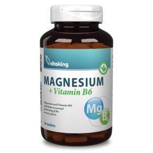 Vitaking Magnesium Citrate 150mg + B6-vitamin tabletta - 90db
