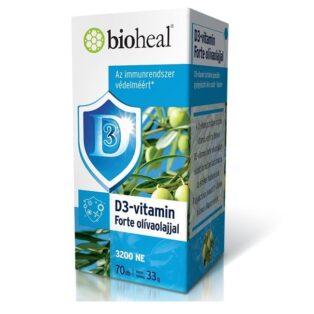 Bioheal D3-vitamin Forte olívaolajjal  lágyzselatin kapszula - 70db