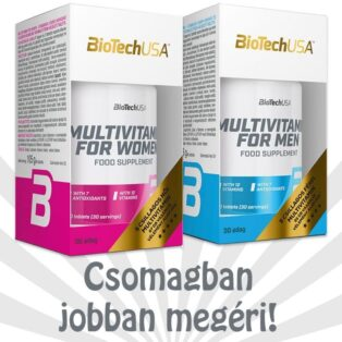 BioTech USA Multivitamin for Men + Multivitamin for Women tabletta - 2x60db