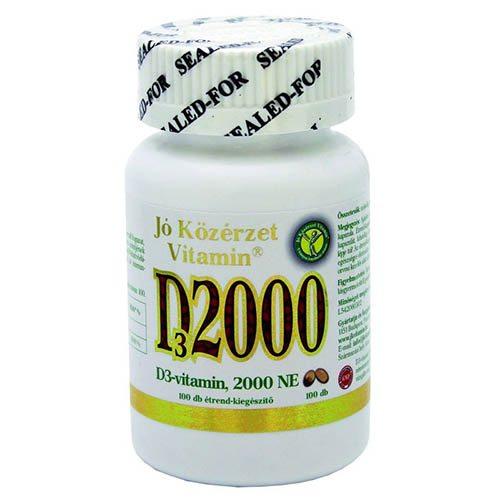 Jó közérzet D3-vitamin 2000NE kapszula - 100db