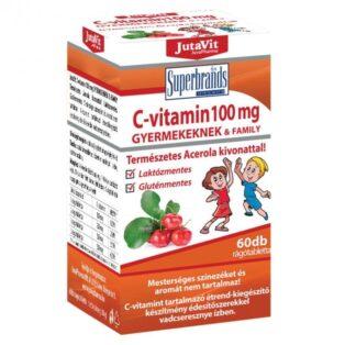 Jutavit C-vitamin rágótabletta gyerekeknek - 60db