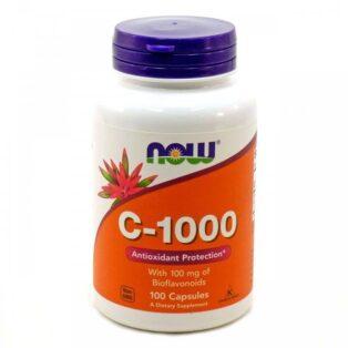 Now C-vitamin 1000mg + bioflavonoid kapszula - 100db