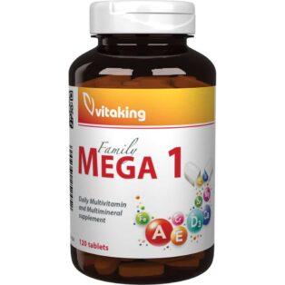 Vitaking Mega-1 Family multivitamin új összetételű tabletta - 120db