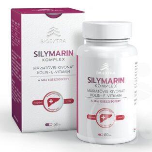 Bioextra Silymarin Komplex - Máriatövis, Kolin, E-vitamin kapszula - 60db