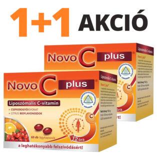 Novo C Plus liposzómás C-vitamin kapszula 1+1 akció - 2x60db