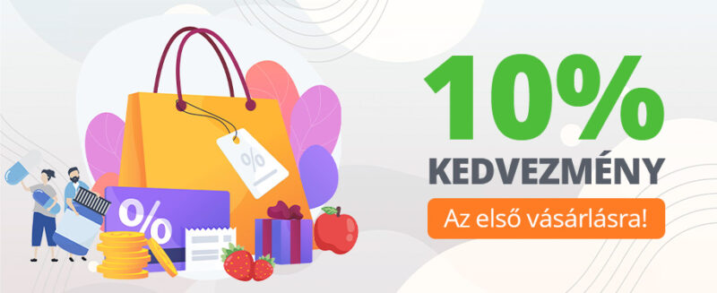 Most az első vásárlására is -10% kedvezményt biztosítunk!